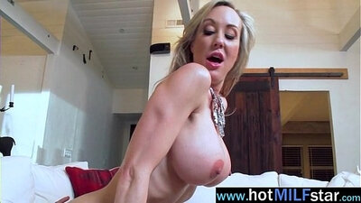 Buxom brunette MILF Evelyn Taylor is riding on big cock
