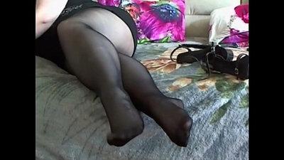 Pantyhose BBW Foot Worship