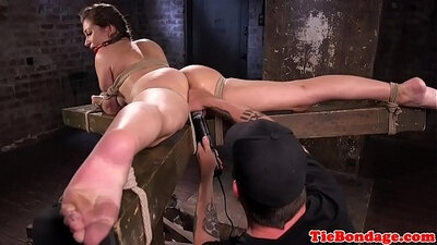 Busty BDSM Whore Fingering Her Pussy