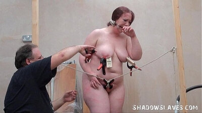 Chubby slave bondage and punishment - more