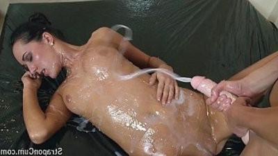 Requested Oiled strapon play