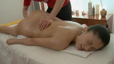 Bj Balcony on perky tits and needle massage