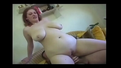 Chubby Mom Riding Their Huge Toy