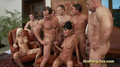 Audrey in an after party orgy