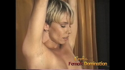 Blonde MILF needs her BDSM slave to be attached in a missionary style position