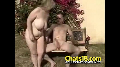 Blonde mature housewife prefers him to fuck outdoors
