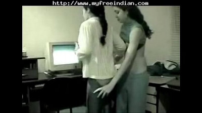Bigging hot long haired office lesbos