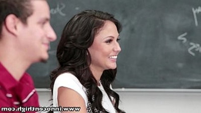 guiltlessHigh hook upy schoolyouthful woman slut sucks and rides this big cock in classroom