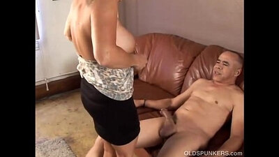 Old spunker granny swallows a thick cum dose
