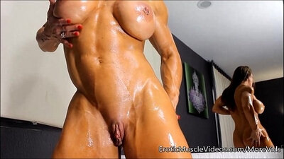 Barely Legal Belle Lennox Oils Up Her Big Tits
