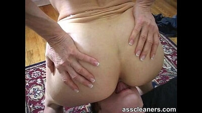 Mistress with short hair gets her ass licked