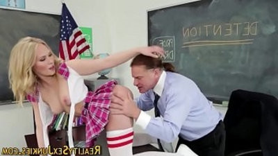 Real schoolgirl gulps
