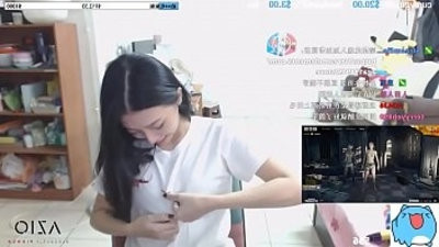 Twitch streamer japanese flashing perfect form boobs in an exciting way