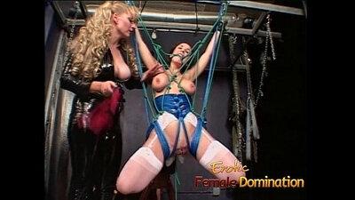 Brunette gets anally spanked