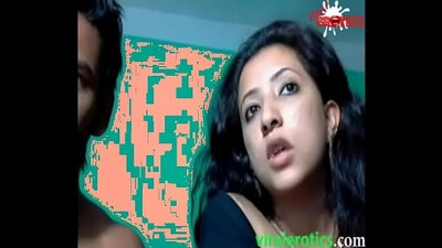 Indian desi husband coaxes his tight pussy on cam spooned