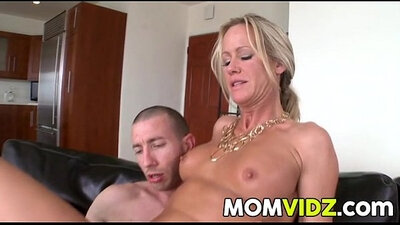 Stepmom talks dirty and gets first anal sex