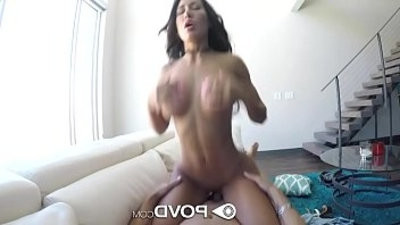 POVD Big booty bouncing on big shaft in POV with Amia Miley
