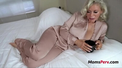 Blonde mom Simone Reyes arse fucked by her son