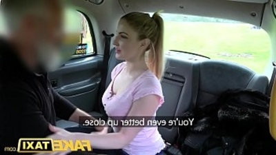 Fake Taxi Blue eyed Scottish honey loves rough fucking on back seat of taxi