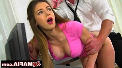 Sneaky Daddys Little Girl Stella Cox Fucks IT Guy Behind Daddys Back