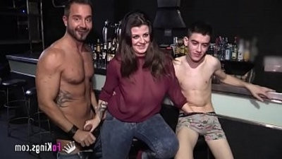 A lesbisexualan babe, a Gay dude and Jordi Enp have threesome together