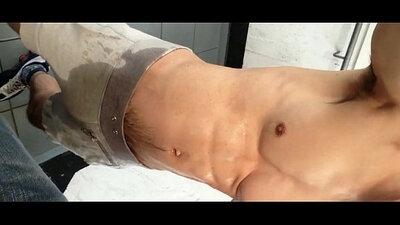 pissing, shower, suck my cum