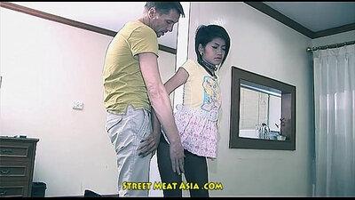 Sexy thai teen self scissors