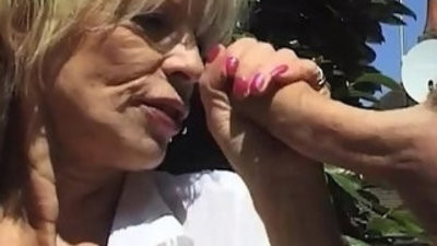 Nasty Gilf Pisses Fucks Outdoors