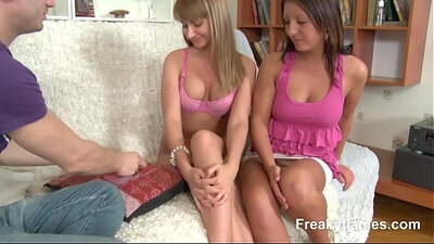 Intense fucking with three undressed amateurs