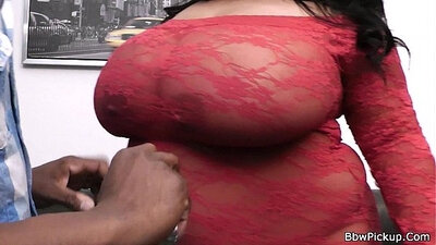 Chubby Black Girl With Big Tits In Lingerie