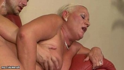 Busty Granny anal invasion