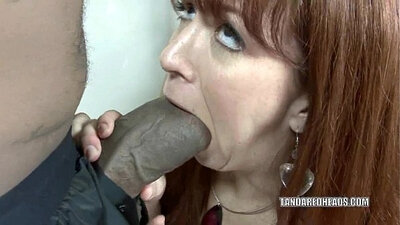 Beautiful black cock pounding deepest hole of sexy, gentle Red Head
