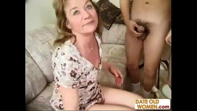 horny granny goes pro with a hard dong and learns to club a virgin