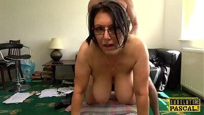 Busty British MILF Jolie Rides Doggystyle