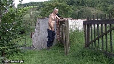 Oldman prayerses sons gf outdoors