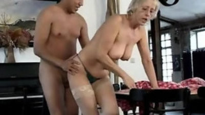 German old mature hoes the old cleaning team