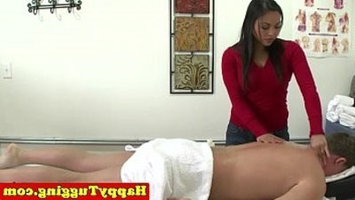 Real real asian masseuse wanks customer