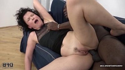 Mature SQUIRtranssexual and goes Crazy when fucked by black man with his big shaft
