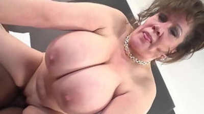 Cougar does her first black monster dick stud video