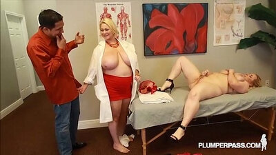 Busty nurse going for a ride and had enough