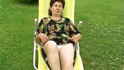 Granny fucked deep and hard by the pool