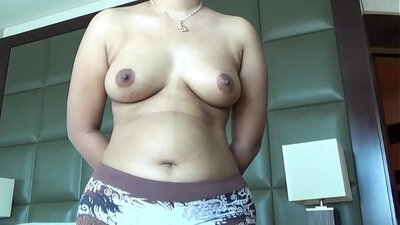 Big breasted Indian chick receives a pounding