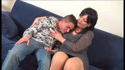 Young chick in stockings sucks and rides