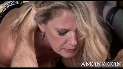 Hot stepbro fucking Naomi Russells mature pussy to deepthroat and fuck