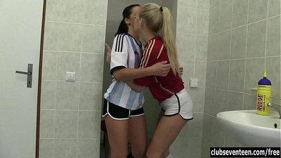 Teen bitch Lesbian Care Bears outside for a fun bath Wake Up