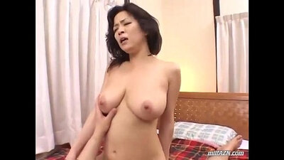 Busty brunette milf rides cock and gets facial
