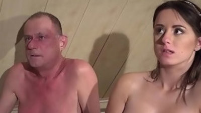 Virgins hop on Grandouble penetrationa shaft fucks His hooter slingins Out in Threesome Sex