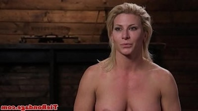 blondee bdsm sub whipped till she squirts
