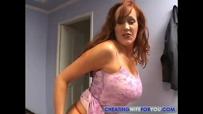 Mature redhead uses every inch of her takes