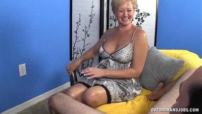 Big cock slut jerks off and cums
